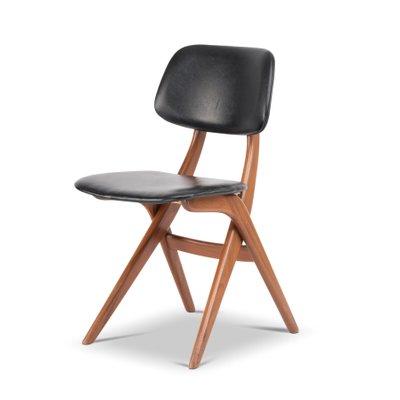 Chaise De Salon Vintage Par Louis Van Teeffelen Pour WeBe Pays Bas 1960s