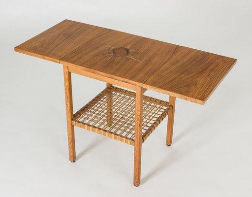 Small Vintage Drop Leaf Side Table By Bertil Fridhagen For Bodafors 1950s