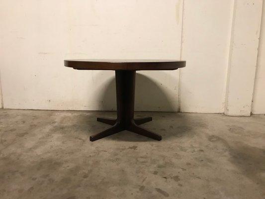 Tavolo da pranzo allungabile rotondo, Danimarca, anni \'60