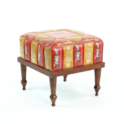 Swell Vintage Turkish Leather Ottoman 1960S Theyellowbook Wood Chair Design Ideas Theyellowbookinfo