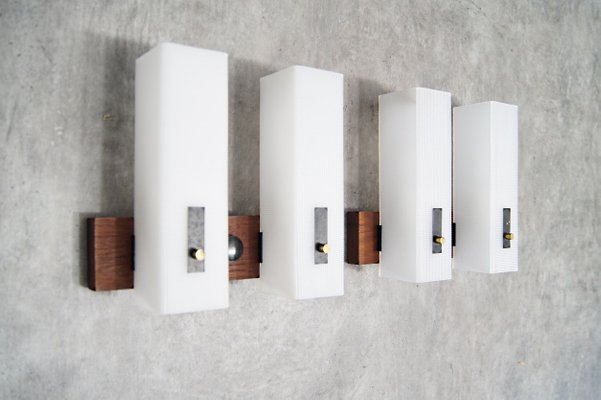 Applique minimalista in teak danimarca anni set di in