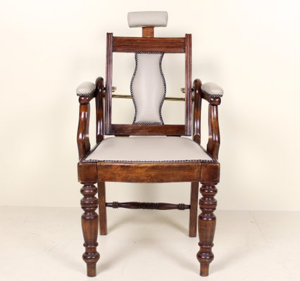 Antique Furniture Chairs Antique Barbers Chairs Carved Mahogany Adjustable Armchair