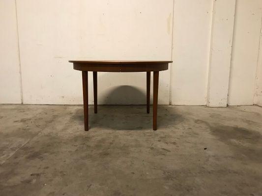 Tavolo da pranzo rotondo allungabile in teak, anni \'60 in vendita su ...