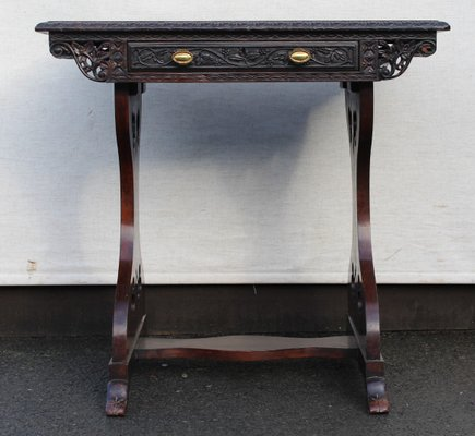Tisch Mit Schublade Aus Padouk Holz 1905 Bei Pamono Kaufen