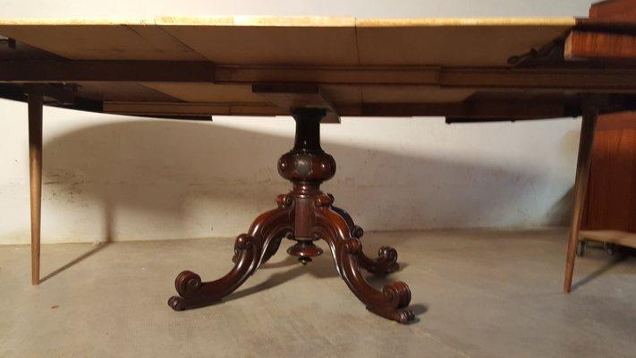 Tavolo Allungabile Antico Da Restaurare.Tavolo Da Pranzo Antico Allungabile Meta Xix Secolo