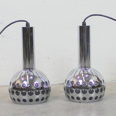 Vintage Lampen2er Belgische Age Space Set VzMpqSU