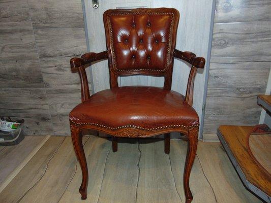 Sedie Vintage Pelle : Sedia vintage in legno e pelle in vendita su pamono
