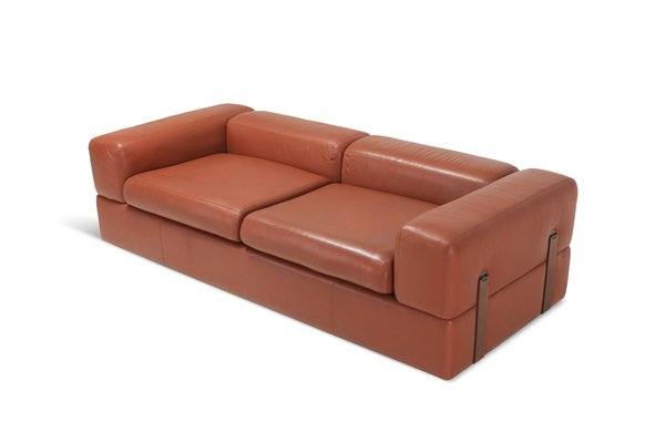 Vintage Minimalist Model 711 Cognac Leather Sofa Or Daybed By Tito Agnoli For Cinova The Exceptional