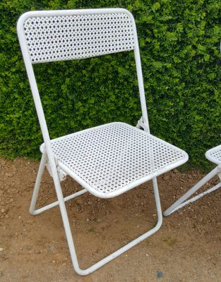 Vintage Metal Garden Chairs 1960s Set Of 4 1