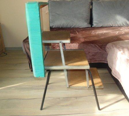 Sgabello Scaletta Design.Sgabello Da Laboratorio Industriale Con Scaletta Anni 50