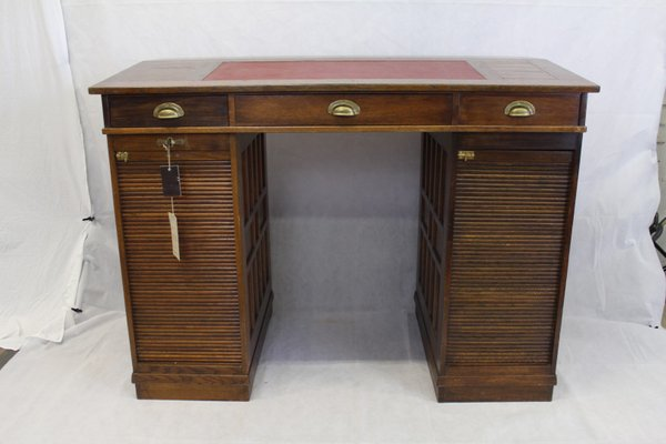 Antique Solid Oak Rolltop Desk From Stolzenberg 1