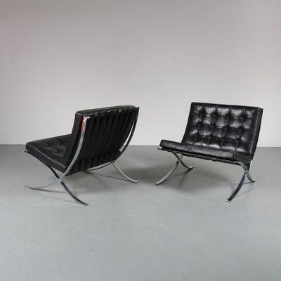 Vintage Barcelona Sessel Von Mies Van Der Rohe Für Knoll
