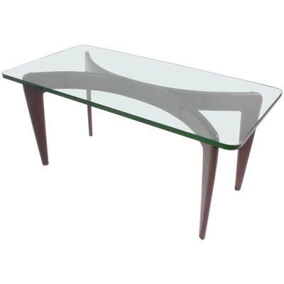 Table Basse En Verre De Cristal Biseaute Par Gio Ponti Pour Fontana Arte 1936