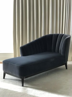 3c33b3a53fb83 Blue Notte Aphrodite Chaise Lounge in Velvet   Black American Walnut by  Casa Botelho 8