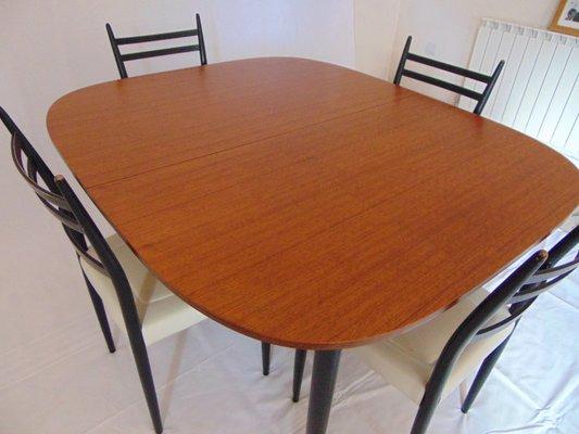 Tavolo da pranzo allungabile Librenza con sedie di G-Plan, anni \'60 ...