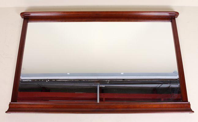Specchio da parete grande in mogano di Ernest Menard, anni \'50 in ...