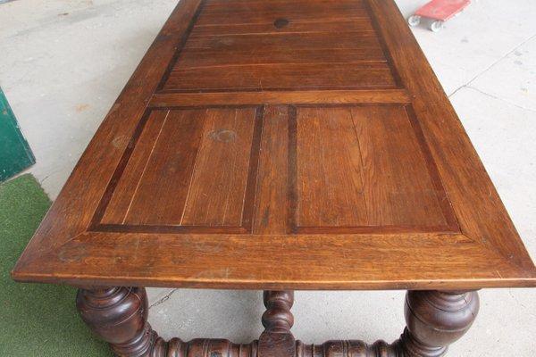 Large Antique Castle Oak Table 8