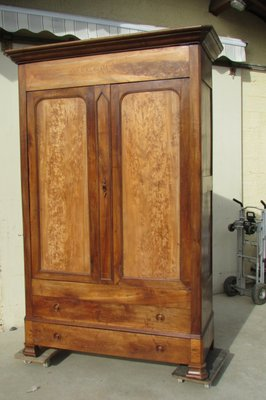 Louis Philippe Style Walnut Elm Linen Cabinet 1890s For Sale At Pamono