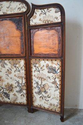 Paravento Art Nouveau pieghevole in legno, inizio XX secolo in ...