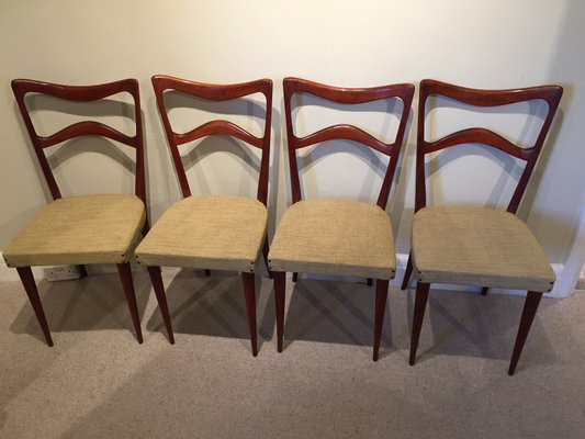 Sedie In Friuli.Mid Century Italian Beech Dining Chairs From Sedie Friuli 1960s Set Of 4