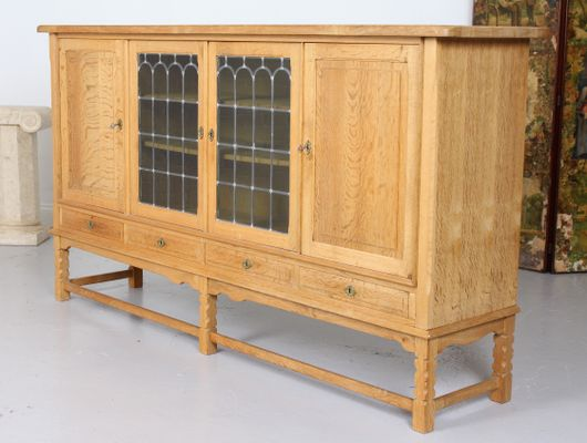 Large Vintage Danish Oak   Glass Sideboard 46ab075cf