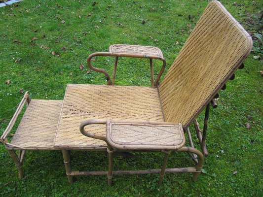 Bamboo Rattan Garden Chair By Erich