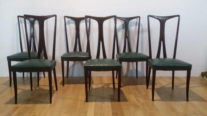 Tavolo e sei sedie da pranzo, anni \'50 in vendita su Pamono
