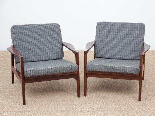 Dänische Vintage Sessel Mit Gestell Aus Teak 1960er 2er Set Bei