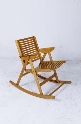 Rex Foldable Rocking Chair by Niko Kralj 1970s 1 & Rex Foldable Rocking Chair by Niko Kralj 1970s for sale at Pamono