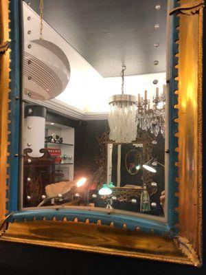 Specchi a muro vintage in metallo e legno, Italia, anni \'40, set di ...