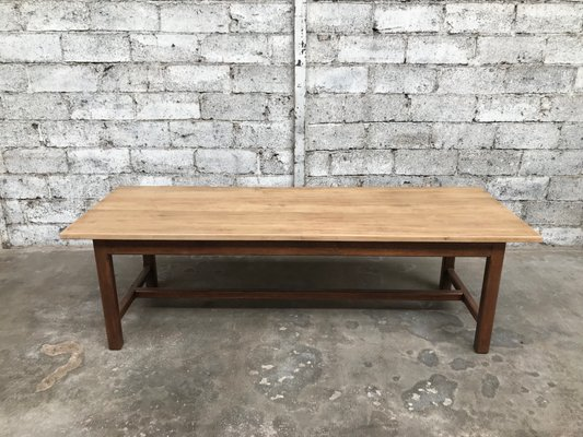 Antique Industrial Oak Farmhouse Table For Sale At Pamono