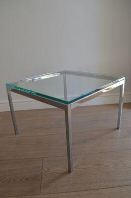 En International1970s Table Chrome Florence Pour Par Knoll Basse Verreamp; roWQdBExCe