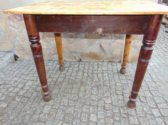 Table Industrielle Vintage En Bois 1940s
