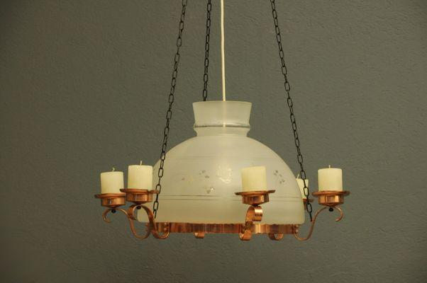 Lampada In Rame Design : Lampada vintage in vetro e rame in vendita su pamono