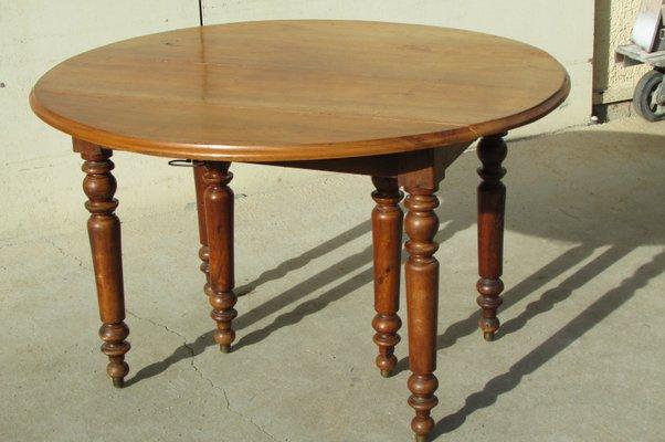 Tavolo rotondo antico allungabile, Francia, anni \'10 in vendita su ...