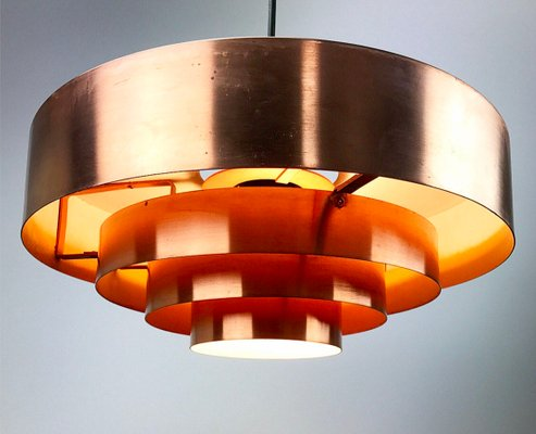 The Roulette Copper Ceiling Light By Jo