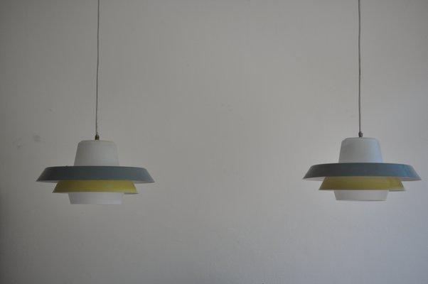 Lampada da soffitto mid century di louis kalff per philips anni 50
