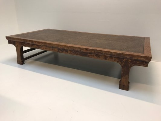 Vintage Indonesian Teak Rattan Coffee Table For Sale At Pamono