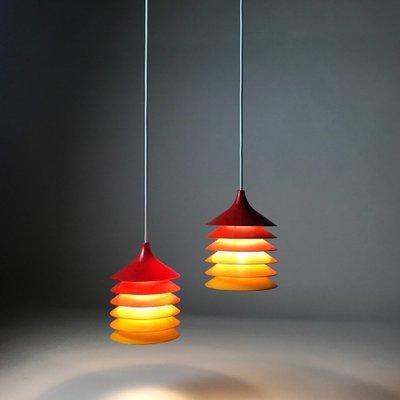 Duetts Ceiling Lights By Bent Gantzel Boysen For Ikea 1970s Set Of 2