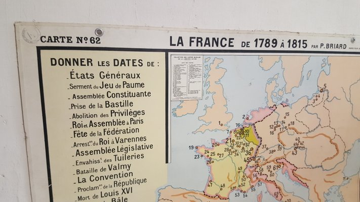 French No 62 Map 1950s For Sale At Pamono