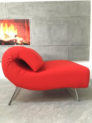 Vintage Red Lover Sofa or Chaise Lounge by Pascal Mourgue for Ligne Roset,  1980s