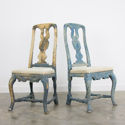 18th Century Swedish Rococo Chairs Set Of 2 For Sale At Pamono