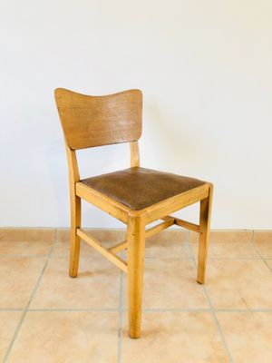 Vintage Oak Chairs 1960s Set Of 4 For Sale At Pamono