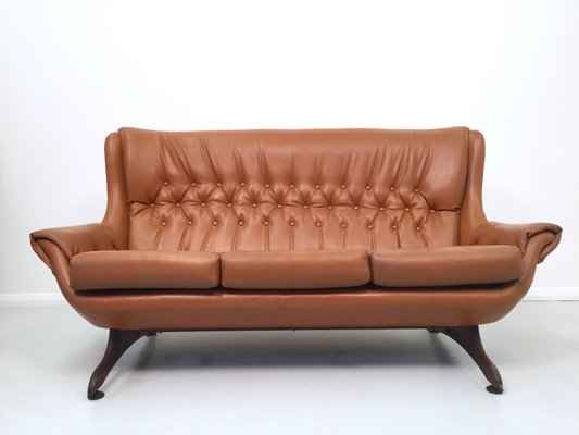 Vintage Tan Leatherette Sofa 1960s For Sale At Pamono