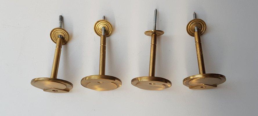 Ganci Per Appendiabiti.Ganci Appendiabiti Art Deco Vintage In Ottone Set Di 4