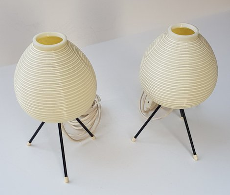 Vintage Tripod Table Lamps From Heifetz Rotaflex, 1950s, Set Of 2