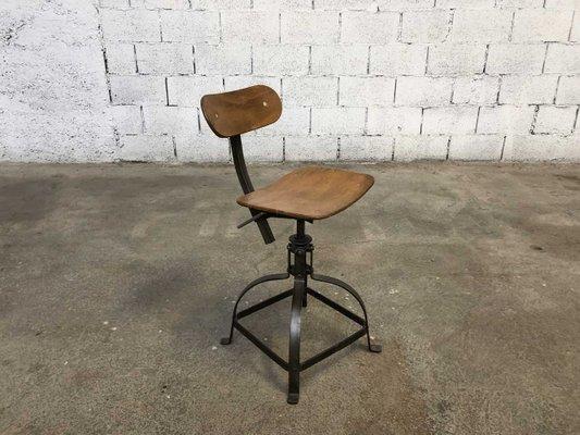 Sedia da laboratorio vintage di bienaise anni in vendita su