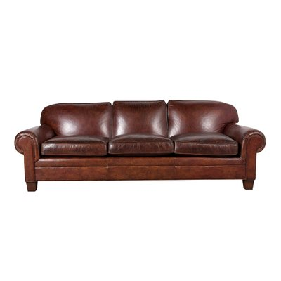 Vintage Leather Sofa By Ralph Lauren 1980s 1