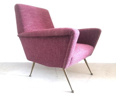 Astonishing Plum Lounge Chair By Nino Zoncada For Poltrona Frau 1950S Ncnpc Chair Design For Home Ncnpcorg