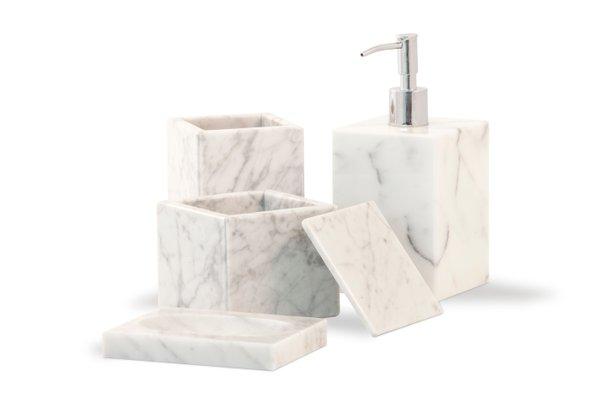 Set Da Bagno In Marmo Bianco Di Carrara Di Fiammettav Home